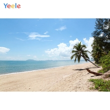 Yeele Beach Seaside Photography Backdrops Palm Tree Tropical Scenery Wedding For Photo Studio Custom Photographic Backgrounds