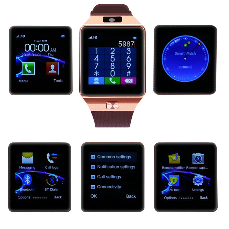 Bluetooth Relogio חכם שעון DZ09 אנדרואיד Smartwatch נגד איבד SIM TF כרטיס עם מצלמה עבור IOS iPhone סמסונג HUAWEI PK A1 Q18