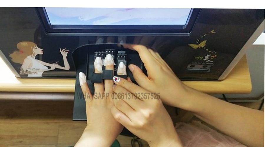 Принтер для ногтей Профессиональный Diy Дизайн ногтей 10 дюйм(ов) сенсорный экран 5 руки ногти печати время