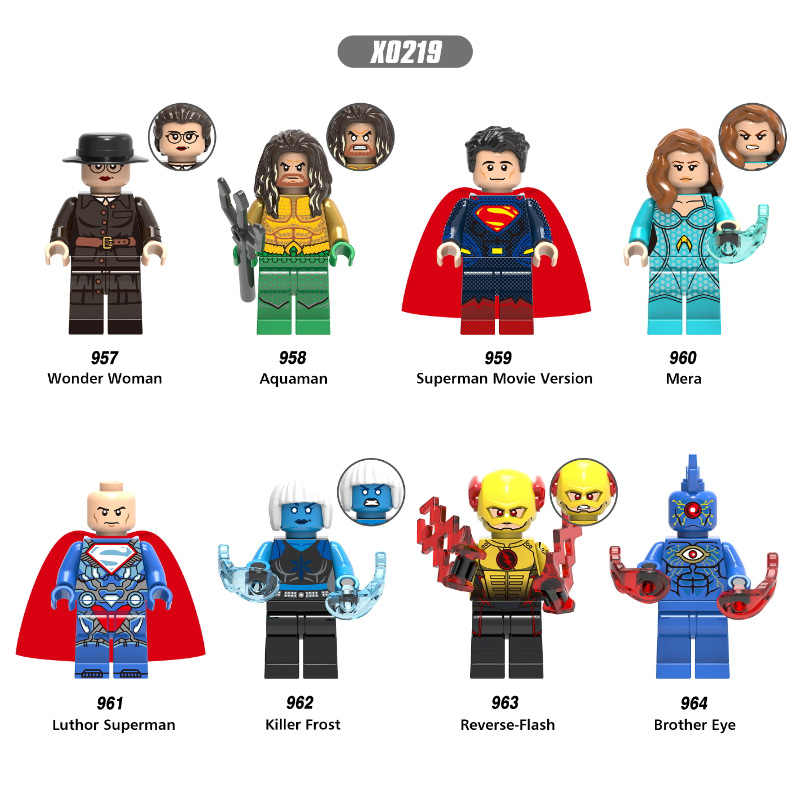 Legoings únicos flecha verde cómics CC negro blanco canario superhéroes Prometheus Dark arquero bloques de construcción juguetes regalos para niños