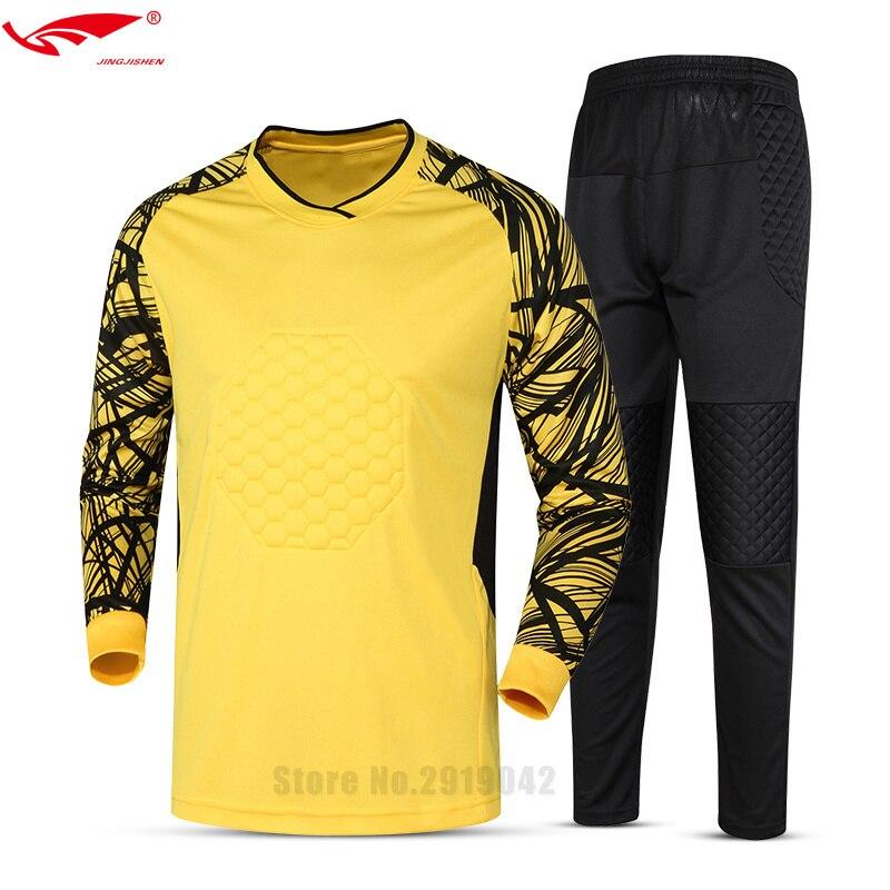 2017 dos homens Novos da Marca Conjuntos Uniformes de Goleiro Futebol  Goleiro Camisa de Futebol Terno Treinamento Calças Porteiros Camisa Curto  025 em ... 773e63d305248