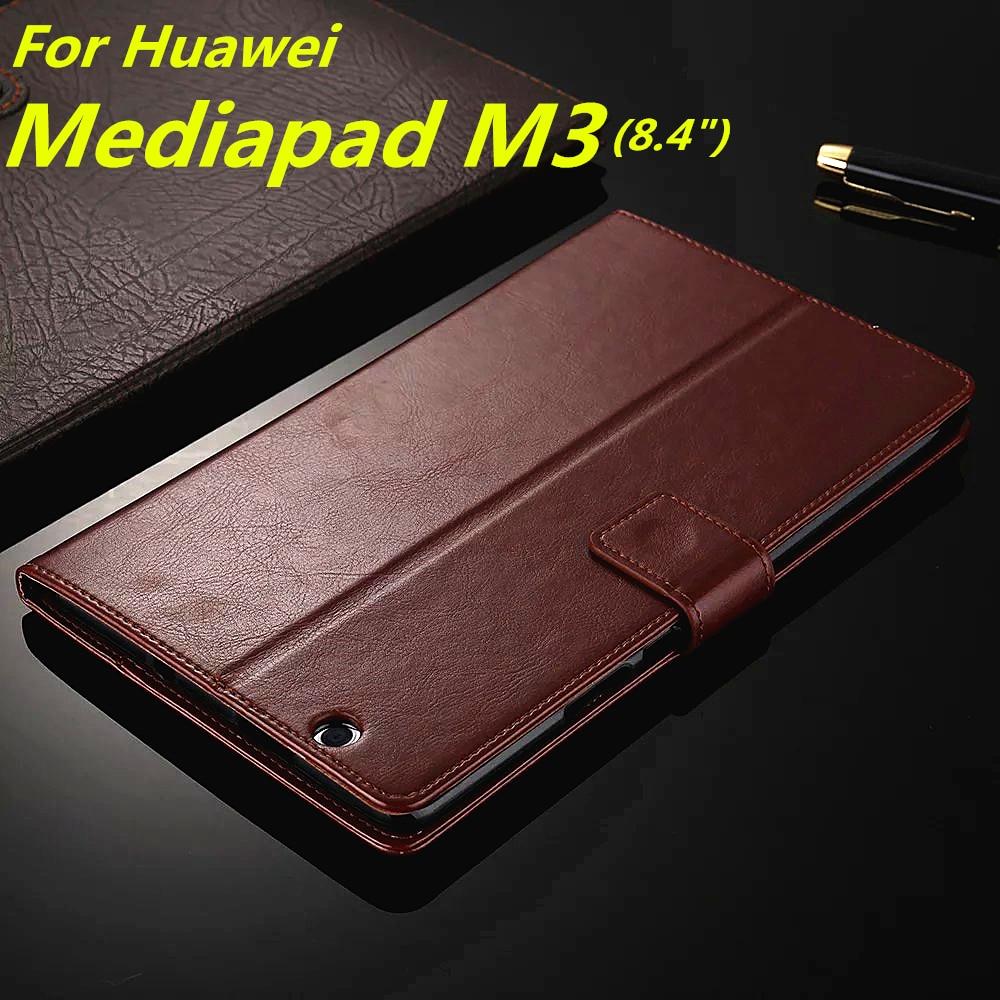 imágenes para Huawei MediaPad M3 titular de la tarjeta caso de la cubierta para Huawei Media Pad M3 8.4 pulgadas de la pu caja del teléfono de cuero ultra delgada cubierta del tirón de la carpeta