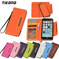For Apple iPhone 6 6S Removable 2 in 1 Purse Pouch Case For iPhone 6Plus 6S Plus Leather Wallet Phone Cases with Magnetic Buckle