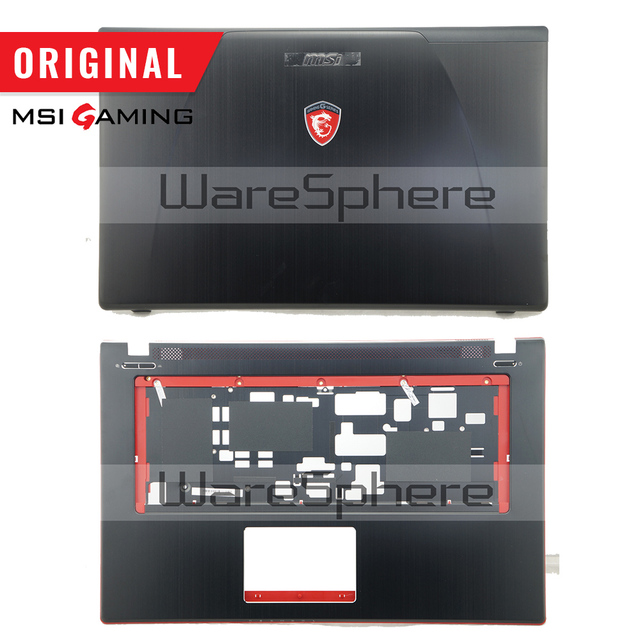 New Original LCD Rear Lid Back Cover for MSI GE70 307759A212A89 Top Cover Without Touchpad 307757C216Y31 Hinges MS 1759 MS 1756