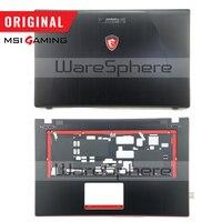 Novo original lcd tampa traseira capa traseira para msi ge70 307759a212a89 capa superior sem touchpad 307757c216y31 dobradiças MS-1759 MS-1756