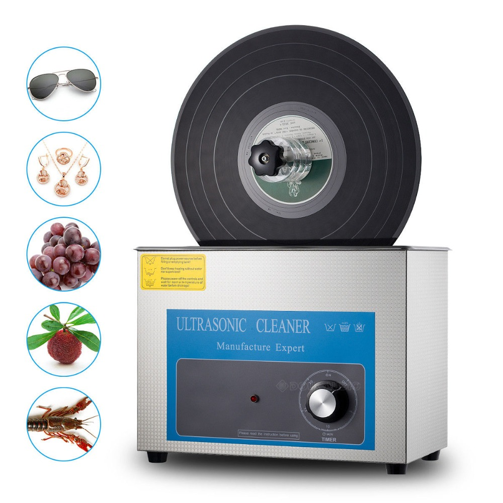 Nobsound Ultrasonic Cleaner for LP Vinyl Records Liftable Timing Washing Machine Jewelry
