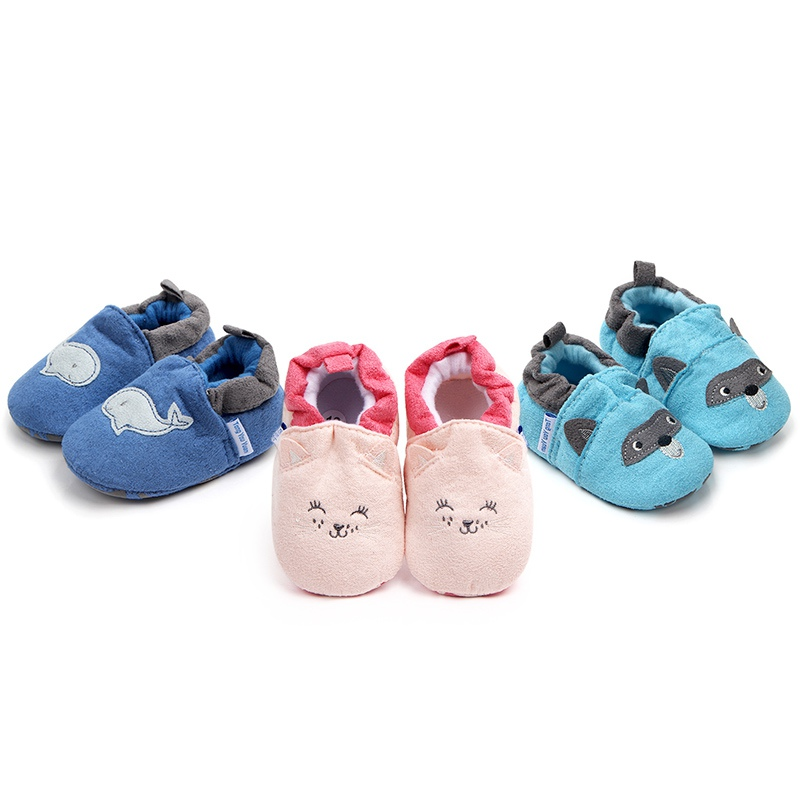 Cartoon First Walkers Spring Autumn Baby Home Shoes Soft Sole Indoor Slippers Infant Crib Shoes New 2018 new baby infant shoes 0 18m boys girls casual shoes soft cartoon high quality spring autumn fashion baby first walkers cute