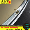 A & T styling de carro para Toyota Highlander pára choque traseiro retaguarda novo Highlander pedal 2015 tronco de aço inoxidável decorativo