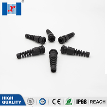 10pcs IP68 Waterproof PG7 Cable Gland Connector Plastic Flex Spiral Strain Relief Protector For 3-6.5mm Wire Thread pg7 black nylon waterproof strain relief cord grip cable gland 3 5 6 mm 50pcs