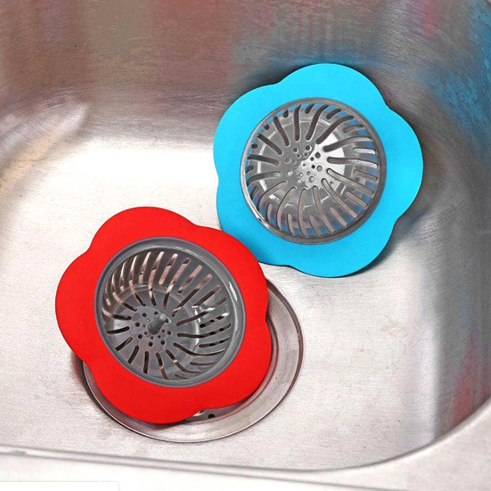 花の形キッチン浴室シンクストレーナー床ドレン抗詰まりフィルターキッチン浴室ツール