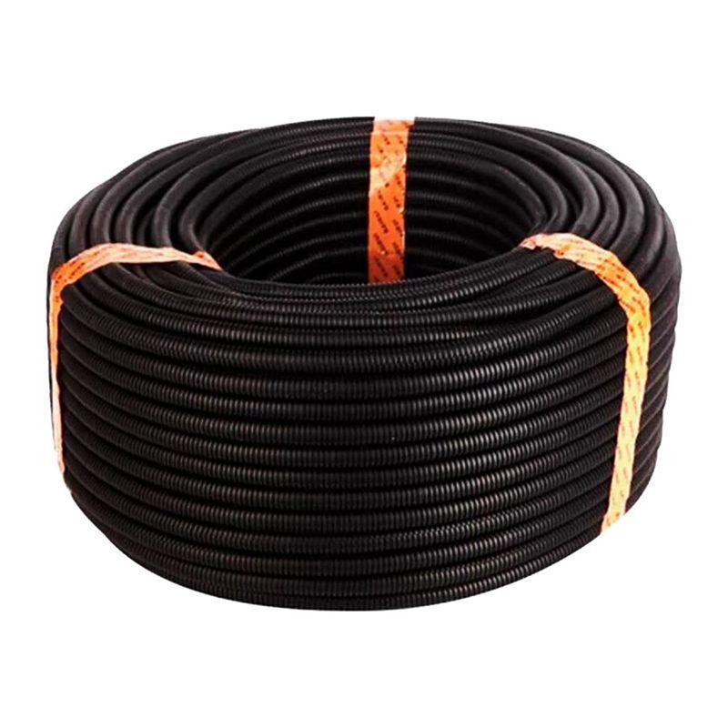 100 Ft 1/4 inch Split Wire Loom Conduit Polyethylene Tubing Black Color Sleeve Tube