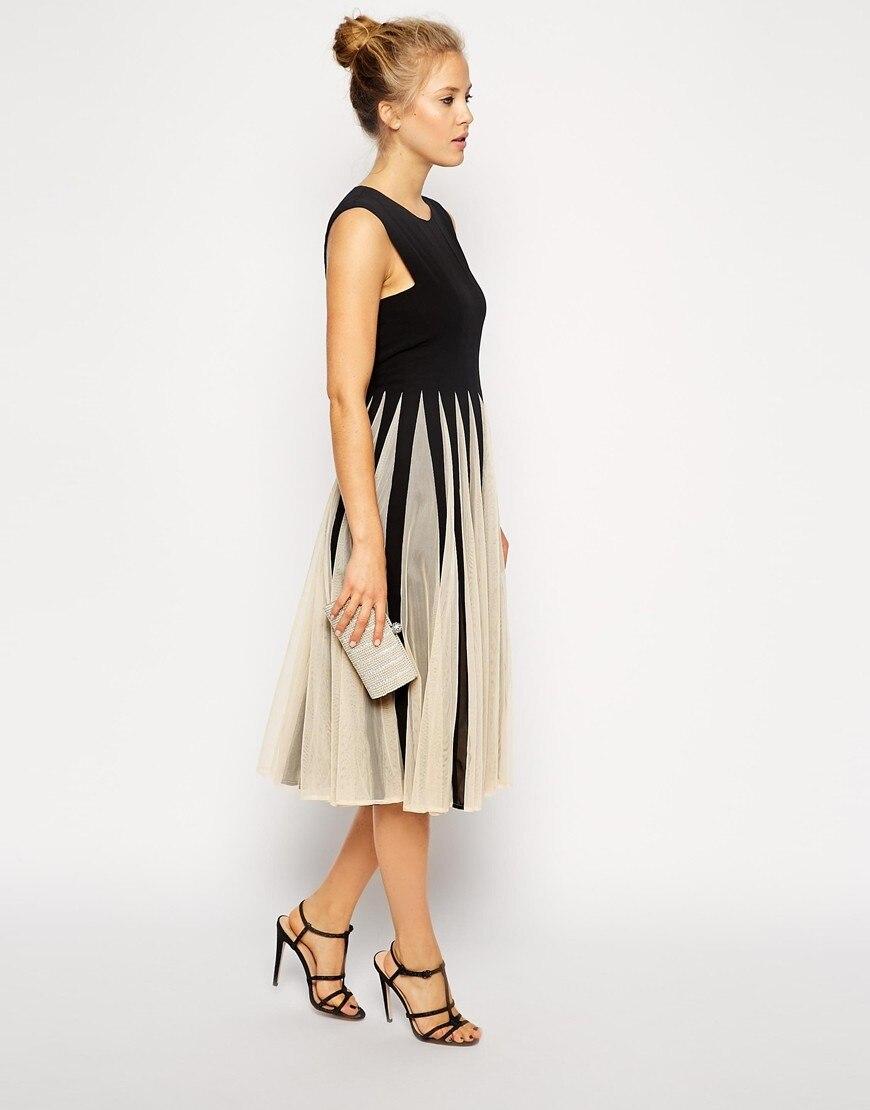 SALE - Contrast color chiffon sweet princess dress 4