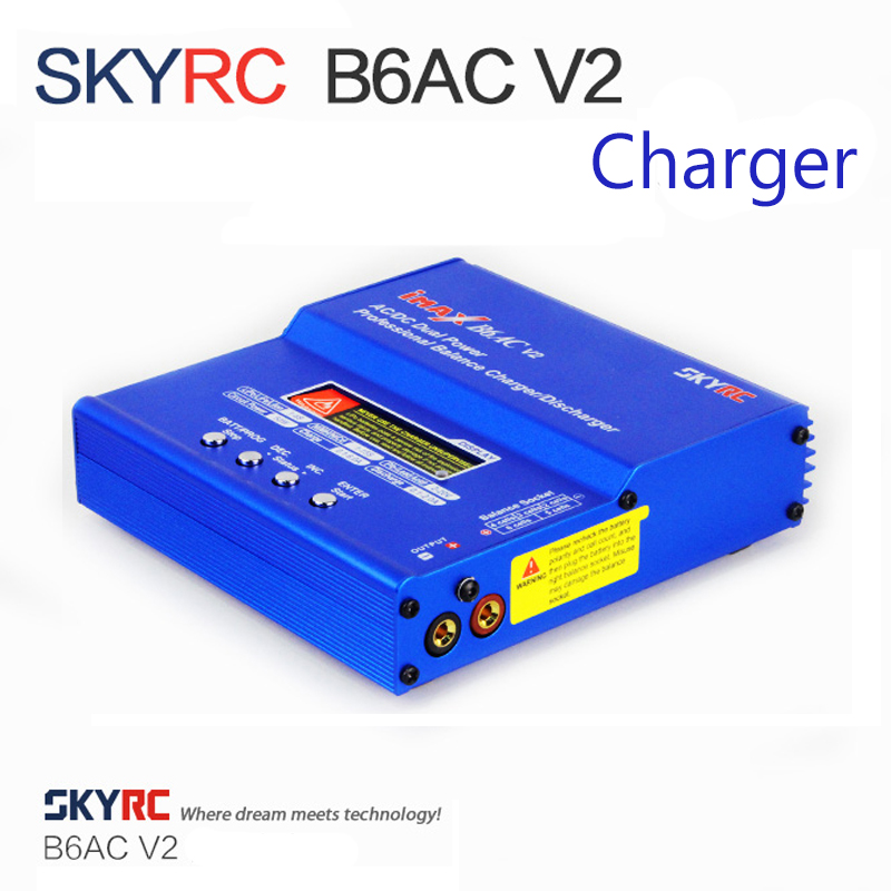 Original SKYRC iMAX B6AC V2 Charger 50W Lipo Battery Balance  Charger RC Discharger Helicopter Quadcopter Drone Battery ChargerDrone  Battery Chargers