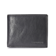 Promotion Genuine Leather Men Wallet High quality Cowhide Purse  Card Holder short design accept OEM & ODM order  Free shipping