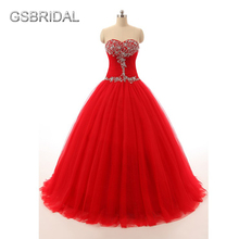 GSBRIDAL Red Off the Shoulder Sweetheart A Line Skirt Beading Prom Dress