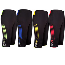 2018 new men Pant Running Football pants football cropped 3 4 thin leggings sports font b
