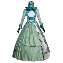 Green Medieval Renaissance Gothic Dress Costume Adult Women Halloween Carnival Cosplay Lolita Dress Custom Made