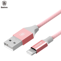 Baseus Crystal USB Cable For iPhone Nylon Braided Charging Charger Data Cable For iPhone 7 6 6s i6 5 5s SE iPad 4 iPod Nano 6