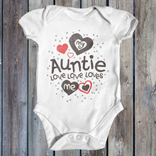 Summer New Baby Triangle Hardy My Auntie Loves Me Love Print Close-fitting