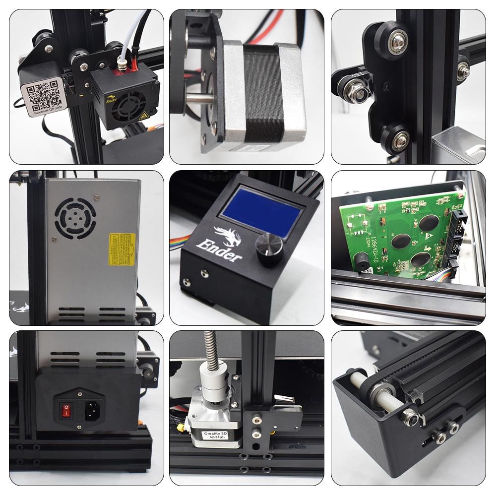 Creality Ender 3 Pro 3D DIY KIT de impresora actualizado Cmagnet placa de construcción reanudar falla de energía de MeanWell poder magnético suave - 6