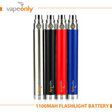 VapeOnlyอาตมาแบตเตอรี่USBไฟฉายEบุหรี่แบตเตอรี่1100มิลลิแอมป์ชั่วโมงบิดแรงดันไฟฟ้าตัวแปร3.3โวลต์-4.2โวลต์บุหรี่อิเล็กทรอนิกส์แบตเตอรี่