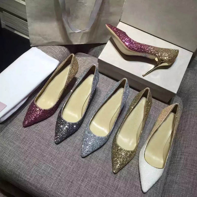 Kmeioo Women Pumps Extrem Sexy High Heels Women Shoes Thin Heels Female Shoes Wedding Shoes Gold Sliver White Ladies Shoes