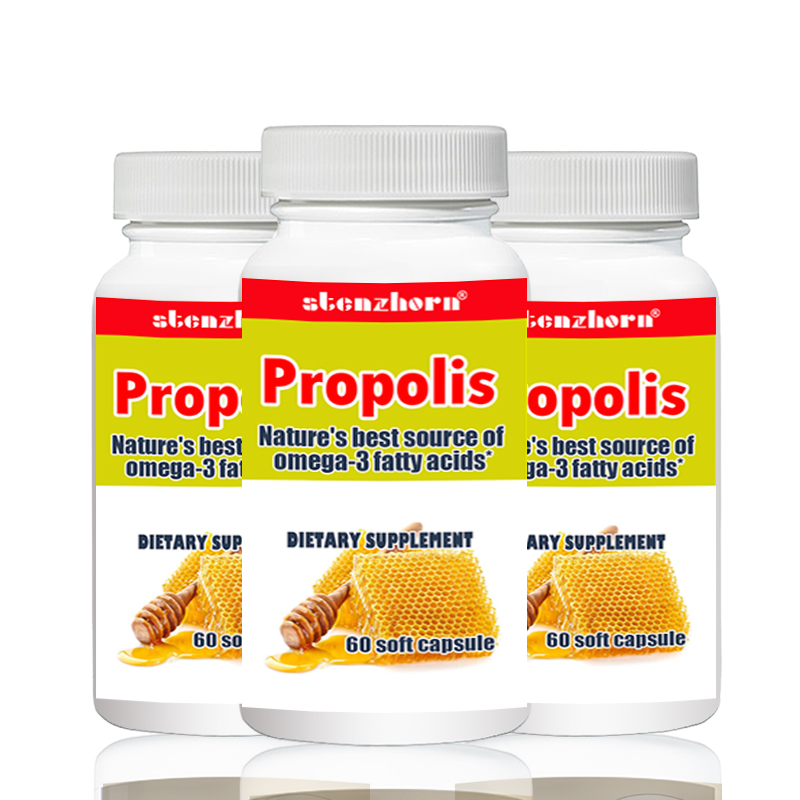 Propolis  60pcs  X 3 Bottles Total180PCS Readily Absorbed And Utilized By The Body.
