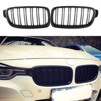 Front Kidney Grill Grille For BMW F30 F31 F35 3 SERIES Sedan 2012 2013 2014 Matt Black Auto Car Accessories
