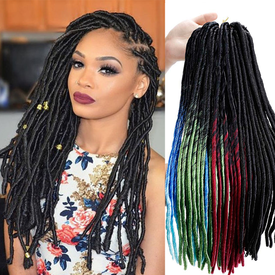 Careful Jinkaili 20 Roots Crochet Goddess Braids Locks Faux Locs Hair Ombre Kanekalon Synthetic Dreadlocks Hair Extensions For Women To Enjoy High Reputation At Home And Abroad Home