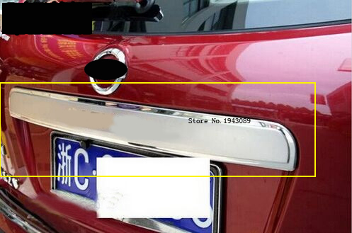 Stainless Steel Rear Trunk Lid Trim Cover Fit For nissan Qashqai Dualis 2007 2012