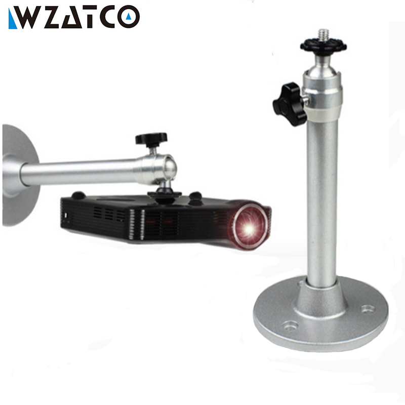 Projector Hanger Ceiling Mount Mini Bracket Camera Tripod Capability Metal Wall Mounting For WZATCO Projectors free shipping universal metal white wall mount stand bracket for cctv security camera