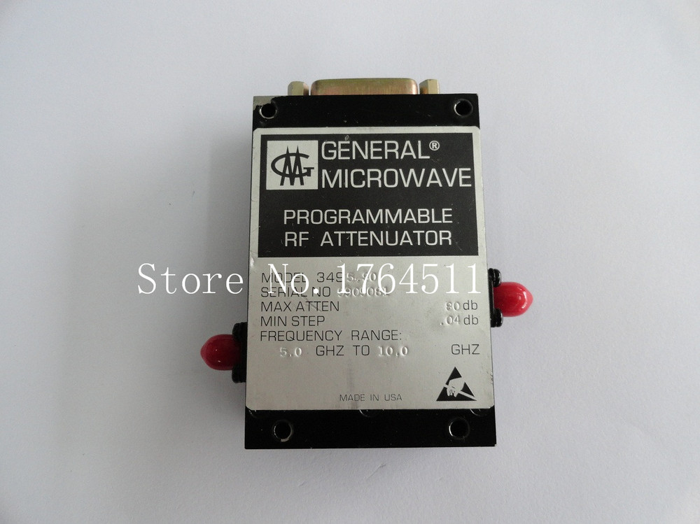 [BELLA] The Programmable Step Attenuator GENERAL MICROWAVE 3495-80 80dB 5-10GHz SMA