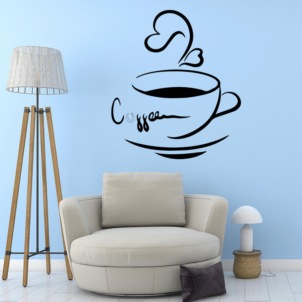Modern coffee Vinyl Wallpaper Roll Furniture Decorative vinyl Stickers Home Decoration