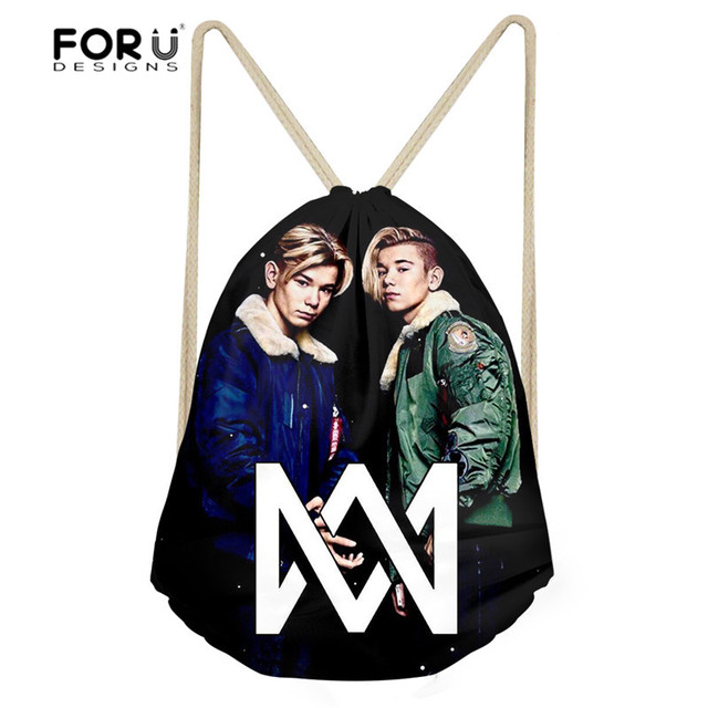 FORUDESIGNS Marcus And Martinus Printing Drawstring Bag Children Backpacks for Teenager Boys Small Storage Bags Daily Backpack