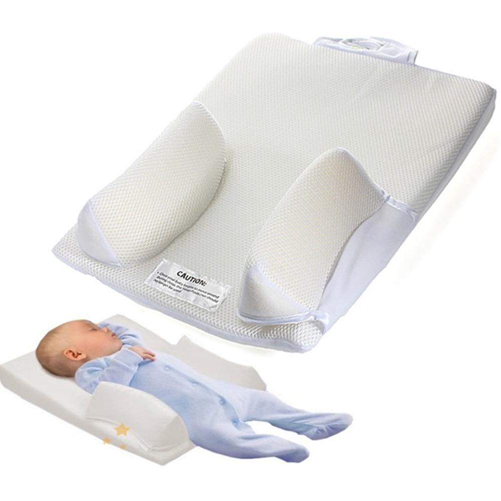 Newborn Baby Infant Sleep Positioner Baby Safe Anti Roll Sleep Prevent Flat Head Shape Anti-turn Over Anti-swelling Milk Pillow