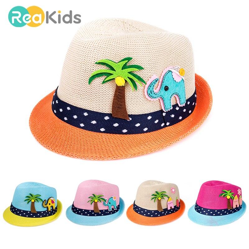 Baby Girls Children Kids Lace Flower Hat Node Brim Summer Beach Sun Straw Cap P0