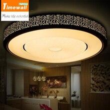 Abajur Km Light Fixtures Ceiling Led Living Room Plafon Lamp Luminarias Para Sala De Jantar Delicate White/black Acrylic Shade