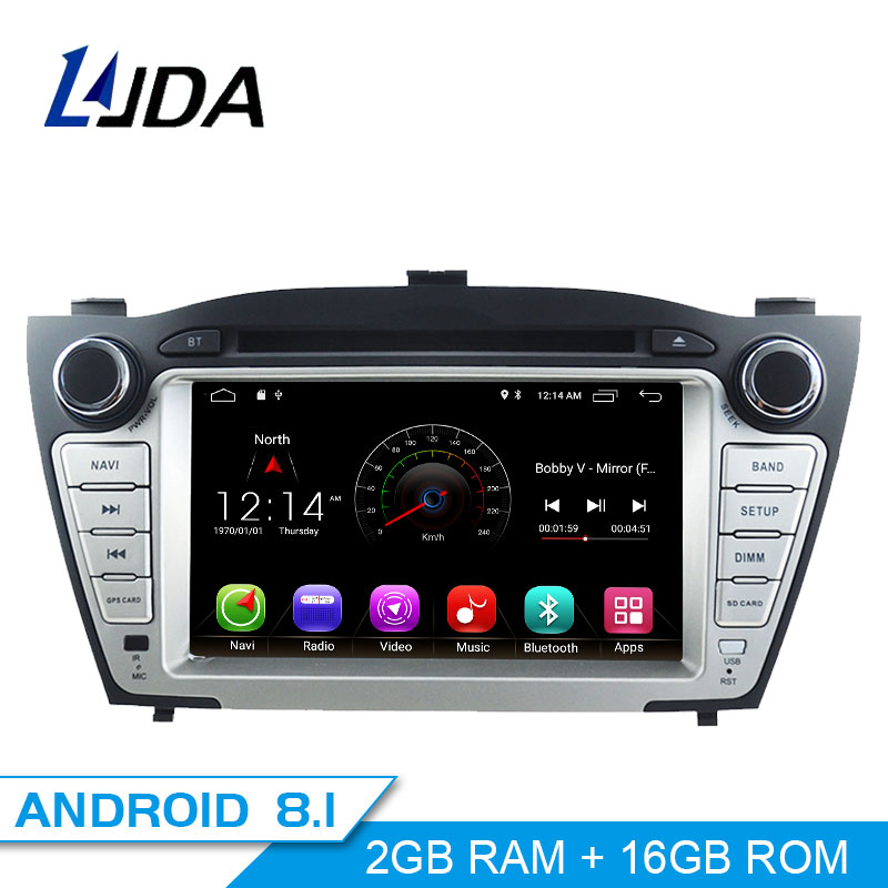 LJDA Dvd-Player Multimedia Gps Navigation Car-Radio Android 8.1 Tucson/ix35 Stereo Autoaudio