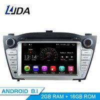 LJDA Android 8.1 Car dvd player for Hyundai Tucson/IX35 2011 2012 2013 Car Radio gps navigation stereo multimedia WIFI autoaudio