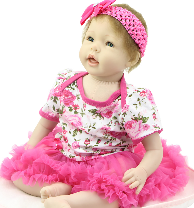 22 Inch Reborn Babies Lifelike NPK Collection Doll Silicone Newborn Baby Girl Doll Realistic Baby Alive Doll For Sale