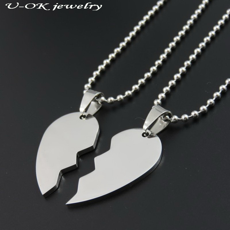 Two Part Love Heart Dogtags Stainless Steel Blank