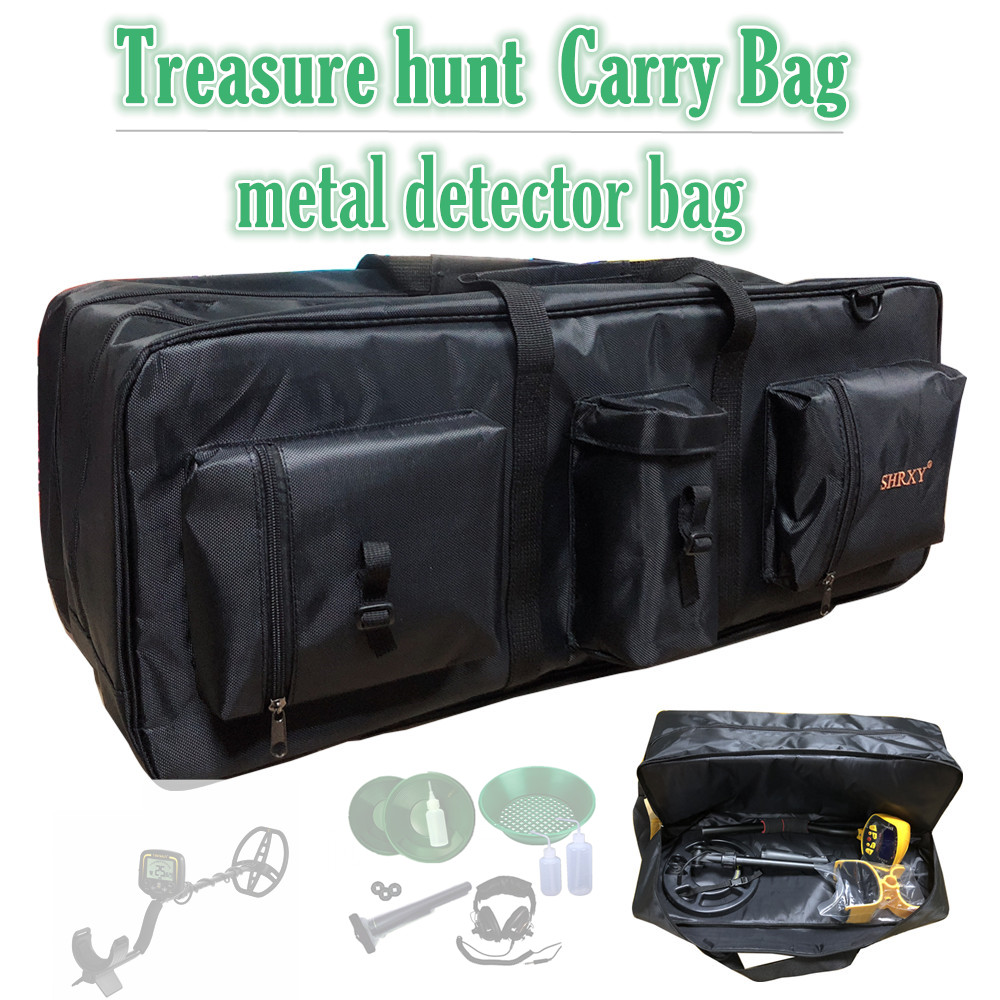Capable Metal Detector Carry Bag Portable Waterproof Storage Bag Double-layer Carry Tools Organizer Backpack For Treasure Hunt Tools