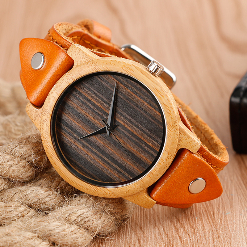 Top Brand Creative Steampunk Bamboo Handmade Wood Watch Men's 2 Styles Wrist Watch Male Sports Quartz Watch Reloj de madera Gift fashion top gift item wood watches men s analog simple hand made wrist watch male sports quartz watch reloj de madera