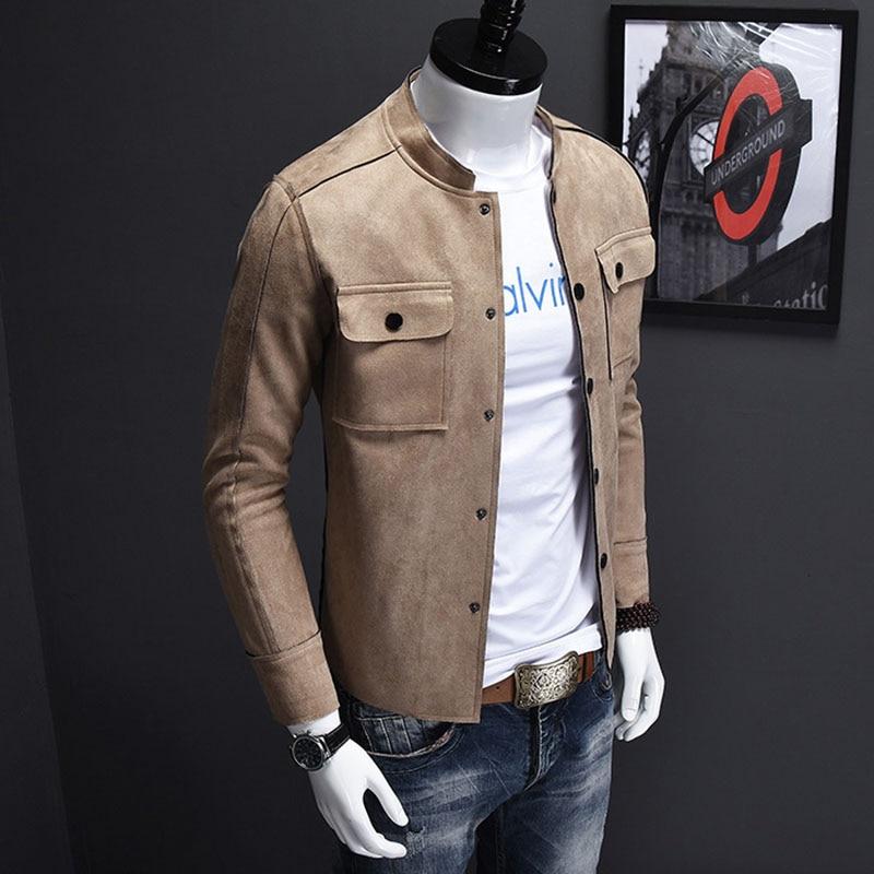 Buy Men Jacket Fashion Casual Stand Collar Jackets Korean Style Slim Fit Coat 2016 Autumn New Plus Size 3XL 4XL Outwear Veste Homme
