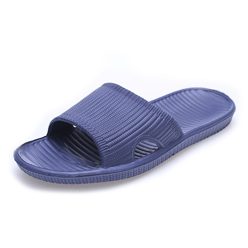 2019 Summer Slippers Men Shoes Woman Bathroom Non-slip Slippers Women Shoes Stripe Indoor & Outdoor Family Slides Shoes