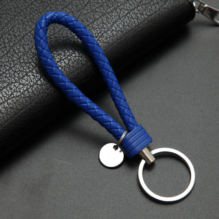 40colors Handbag Keychains Braided Leather Rope Handmade Woven Key Chains Leather Key Chain Ring Holder For Car Keyrings