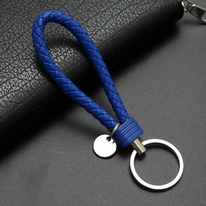 40colors handbag Keychains Braided Leather Rope Handmade Woven Key chains Leather Key Chain Ring Holder for Car Keyrings(China)