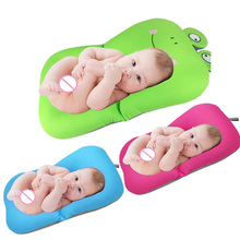 Baby Bathing Seat Bathtub Frog Design Foldable Baby Bathtub Pad Mat & Chair & Shelf Newborn Safety Security Support