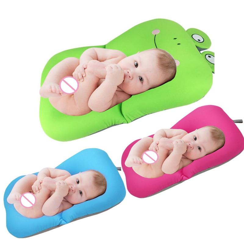 Cojín de baño de bebé plegable cojín de dibujos animados conejo y Rana diseño de bañera plegable alfombra y silla y estante de seguridad para recién nacidos