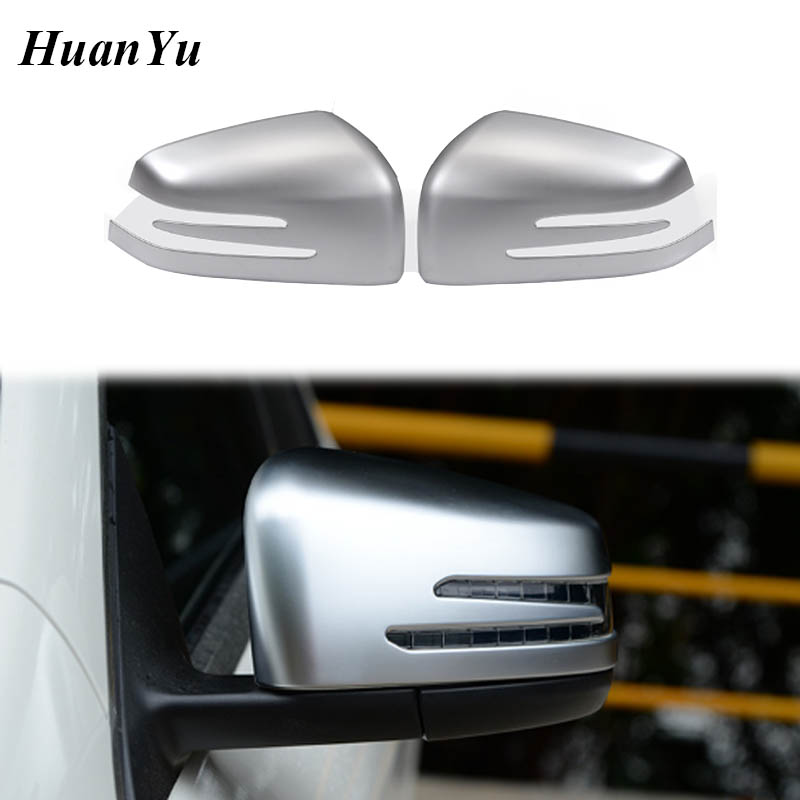 2x Carbon Fiber Side Mirror Cover Caps For Mercedes A//B//C//E//S CLA GLK GLA Class